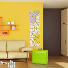 mirror decals home decor 32pcs set acrylic mirror surface large wall sticker home decor