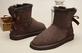 uggs on sale bailey bow womens mini bailey bow boots 1005062 chocolate