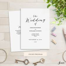 Program Template For Wedding Order Of Service Printable Templates Connie U0026 Joan