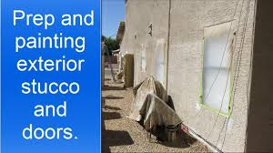 preparation and painting stucco wood trim and metal security