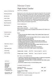 curriculum vitae exle for new teacher resume template for teacher sle new teacher resume resume