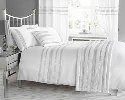 white u0026 silver diamante bling bedding and or curtains and or
