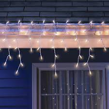 100 count clear icicle lights on white wire at home at home