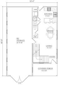 Garage Floor Plans With Living Quarters Basic Rv Shelter With Two Wings That Can Be Used As Separate