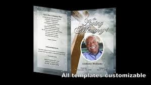 download free funeral program template video dailymotion