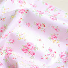 1 meter shabby chic pink rose fabric patchwork cotton fabric woven