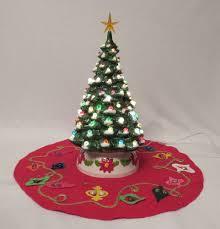 1960 s christmas tree lights vintage 1960s mid century crackle marble ceramic light up christmas