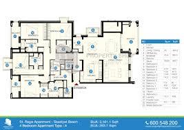 floor plan st regis apartments saadiyat island