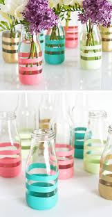 diy painted bottle vases home decor ideas on a budget jpg