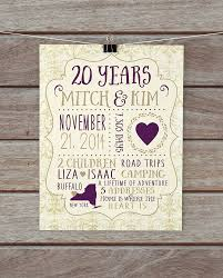 20 year wedding anniversary ideas 20th wedding anniversary gift ideas for lading for