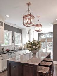 Modern Hanging Lights by Kitchen Glass Pendant Light Over Kitchen Island Clear Glass