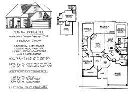 under 2300 sq feet 2 story 3 bedroom house plan designs