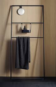 Black Bathroom Towel Bar Free Standing Towel Rack Ideas For Your Bathroom