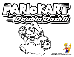 mario kart toad coloring coloring