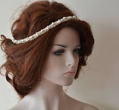 pearl headpiece bridal headband rhinestone and pearl headbands bridal headpieces