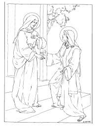 visitation coloring page family in feast and feria