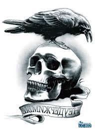 buy large sticker horror skull birds and get free