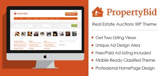 property bid real estate auctions wordpress theme u0026 template