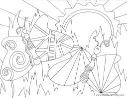 bug and insect coloring pages doodle art alley