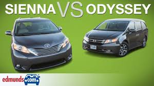 honda odyssey vs toyota sienna edmunds a rated minivans face off