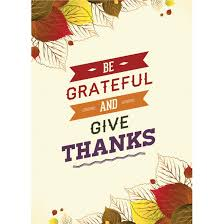 free vector be grateful and give thanks happy thanksgiving poster