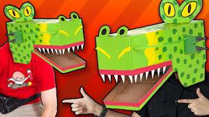 cardboard dragon mask craft ideas for kids diy on box yourself