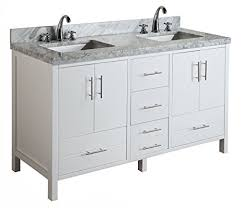 60 Inch White Vanity California 60 Inch Double Bathroom Vanity Carrara White