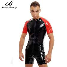 mens black jumpsuit sale black leather based catsuit for mens apparel