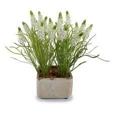 floral arrangement bouquet faux hyacinth floral arrangement in pot reviews joss