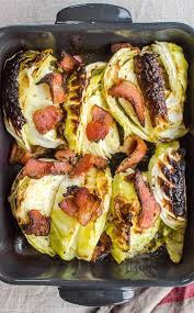 roasted cabbage with bacon recipe roasted cabbage cooked