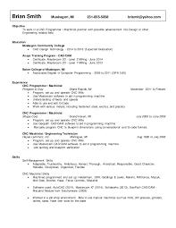 Cnc Machinist Resume Resume Smith Brian Cnc