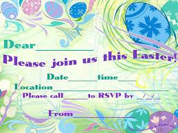 Get Together Party Invitation Card 30 Adorable Easter Invitation Card Design And Samples For Kids