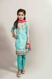 best sky blue and pink shirt with trouser for pakistani little