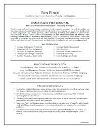 Catering Manager Resume Sample Objective In Resume For Hotel And Restaurant Management