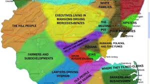 map of nj colorfully redrawn new jersey map not so for state s