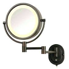 wall mounted hardwired lighted makeup mirror makeup mirror wall mount with light zadro cordless wall mounted