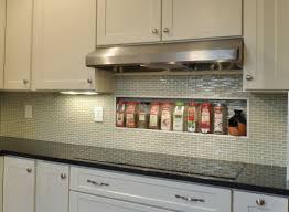 Glass Kitchen Backsplash Pictures Modern White Glass Backsplash Tile Home Improvement Design And