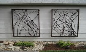 41 metal wall art outdoor round metal wall panel garden art