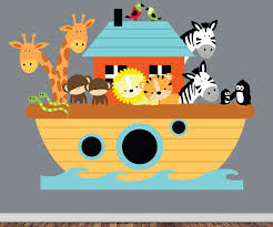 noahs ark wall decal childrens reusable fabric wall decal zoom