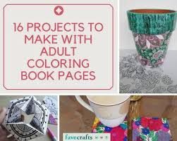 16 projects to make with coloring book pages u2013 indie crafts