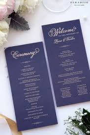 printed programs black chocolate wedding program folded printable wedding