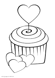 heart shaped balloons coloring page for print out printable of