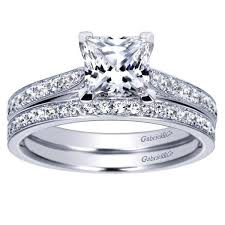 white gold princess cut engagement ring 14k white gold 1 82cttw classic bead set princess cut