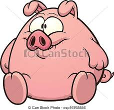 eps vector fat pig clip art vector cartoon illustration