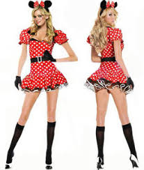 Minnie Mouse Womens Halloween Costume Halloween Womens Minnie Mouse Fancy Dress Costume