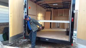 Suspended Loft Bed From Ceiling by Ceiling Bed For A Enclosed Trailer Remodel Youtube