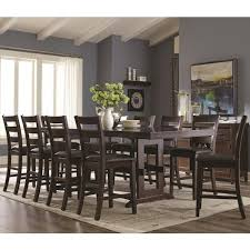 Counter Height Table And Chairs Set Coaster Holbrook 11 Piece Counter Height Table And Ladder Back