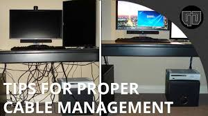 how to cable manage a desk tips for cable management youtube
