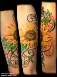 pretty sunflower tattoo design tattoomagz