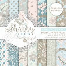 shabby chic wrapping paper shabby chic birds feather digital blue digital wrap paper